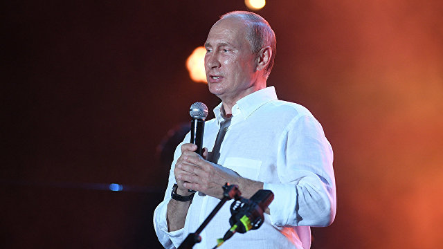 Vladimir Putin attends Koktebel Jazz Party festival