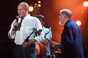 Russian President Vladimir Putin attends the Koktebel Jazz Party 2017 festival