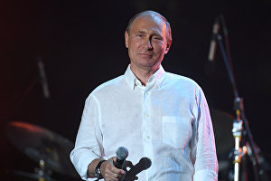 Russian President Vladimir Putin attends Koktebel Jazz Party 2017 festival