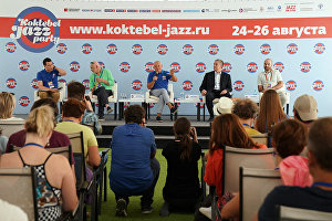 News conference on the 16th Koktebel Jazz Party international music festival