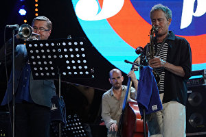 Rick Margitza Quintet band members perform live at the 16th Koktebel Jazz Party international music festival