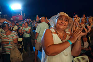 Spectators at the 16th Koktebel Jazz Party international music festival