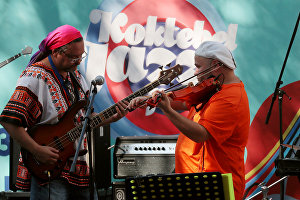 Felix Lahuti & UniversaLove perform at the Koktebel Jazz Party festival
