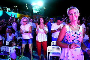 The public enjoying the 17th Koktebel Jazz Party international festival