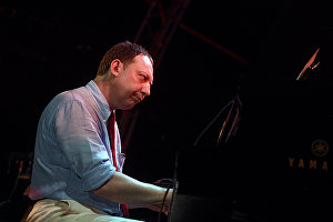 Musician Yakov Okun at the 17th Koktebel Jazz Party international music festival