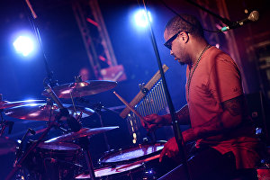 Musician Phillip Walker performs at the 17th Koktebel Jazz Party international music festival