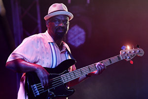 Musician Donald Wright at the 17th Koktebel Jazz Party international music festival