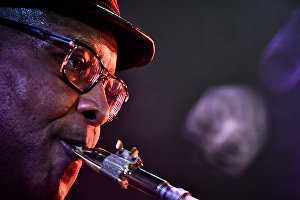 Musician Reggie Oliver at the 17th Koktebel Jazz Party international music festival