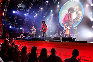 Selwyn Birchwood and his blues band at the 17th Koktebel Jazz Party international music festival